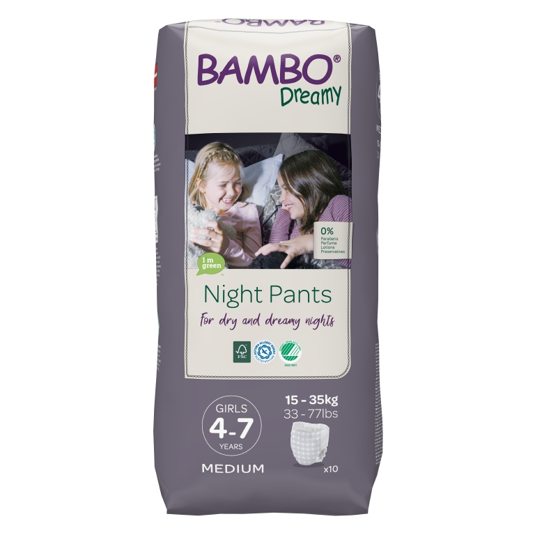 BAMBO Dreamy Night Pants Girl 4-7 let 10 ks pro 15-35 kg