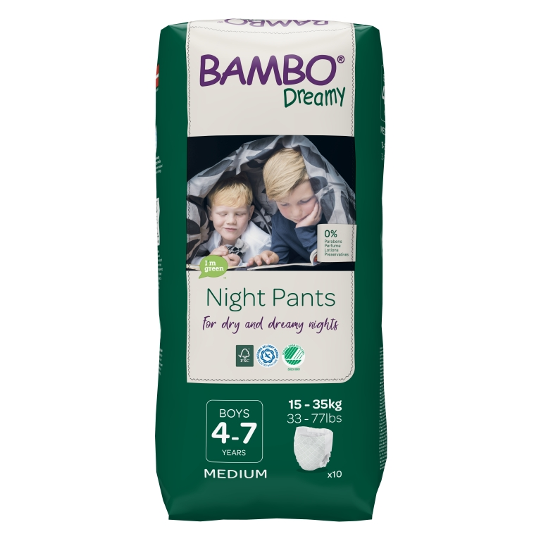 BAMBO Dreamy Night Pants Boy 4-7 let 10 ks pro 15-35 kg