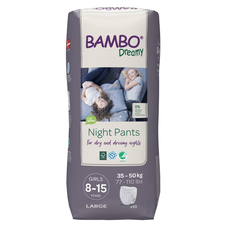 BAMBO Dreamy Night Pants Girl 8-15 let 10 ks pro 35-50 kg