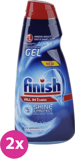 FINISH Gel All-in-1 Shine & Protect (2 x 650 ml)