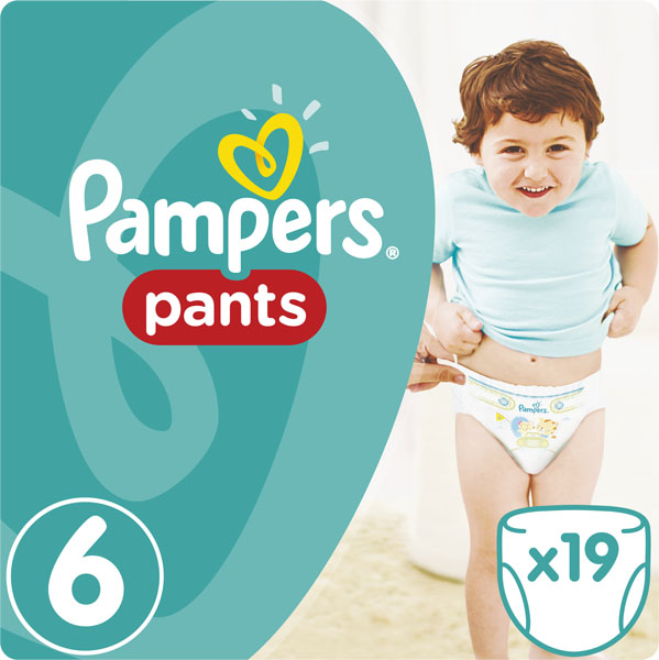 PAMPERS Pants 6 19ks (15 kg) CARRY Pack - plenkové kalhotky