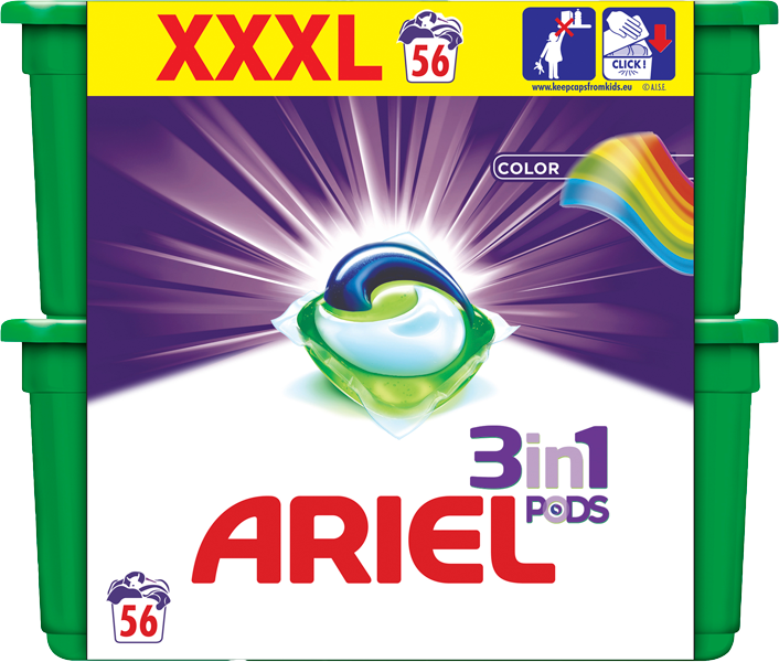 ARIEL Color All in 1 Gelové Kapsle - 56 ks