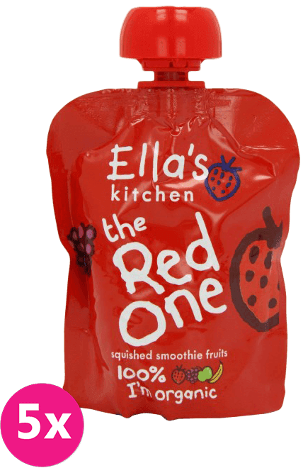 5x ELLA´S Kitchen Ovocné pyré - Jahoda (The Red One) 90g