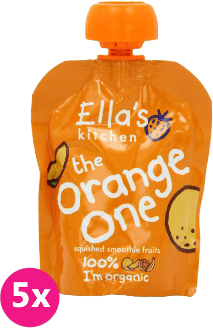 5x ELLAS Kitchen Ovocné pyré - Orange One (Mango) 90 g