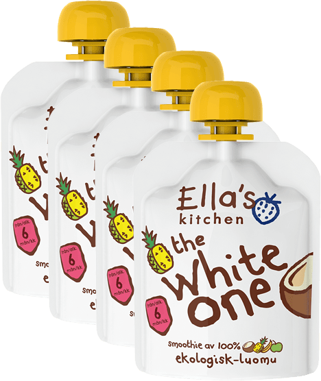 4x ELLAS Kitchen Ovocné pyré - White One (Kokos) 90 g
