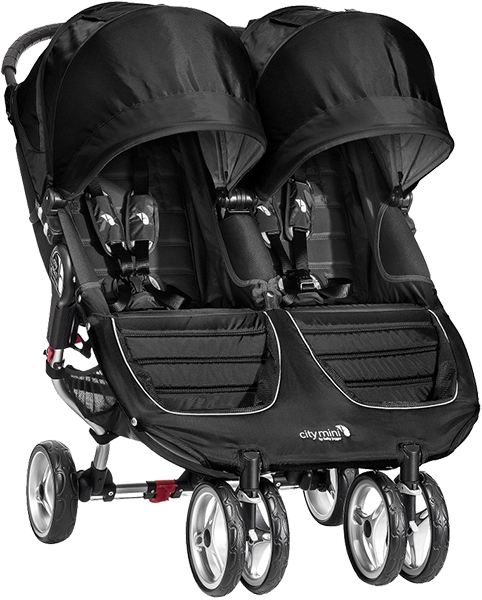 BABY JOGGER Kočík City Mini Double 2016 - Black / Grey