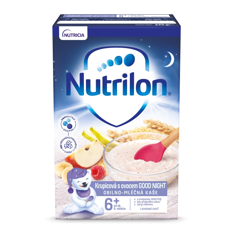 NUTRILON Pronutra® Krupicová kaše s ovocem Good Night 225g 6