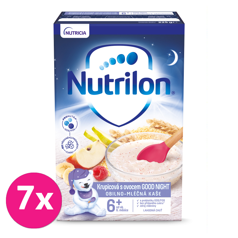 7 x NUTRILON Pronutra® Krupicová kaše s ovocem Good Night 225 g 6