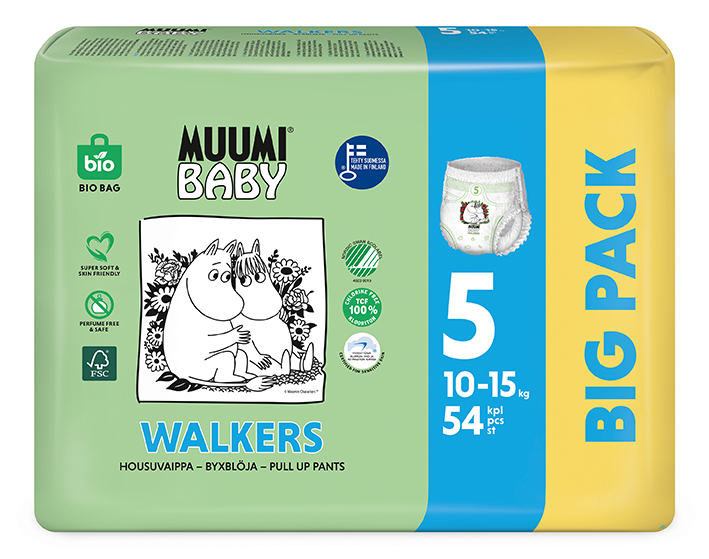 MUUMI Baby Walkers Big Pack vel. 5 54 ks 10-15 kg