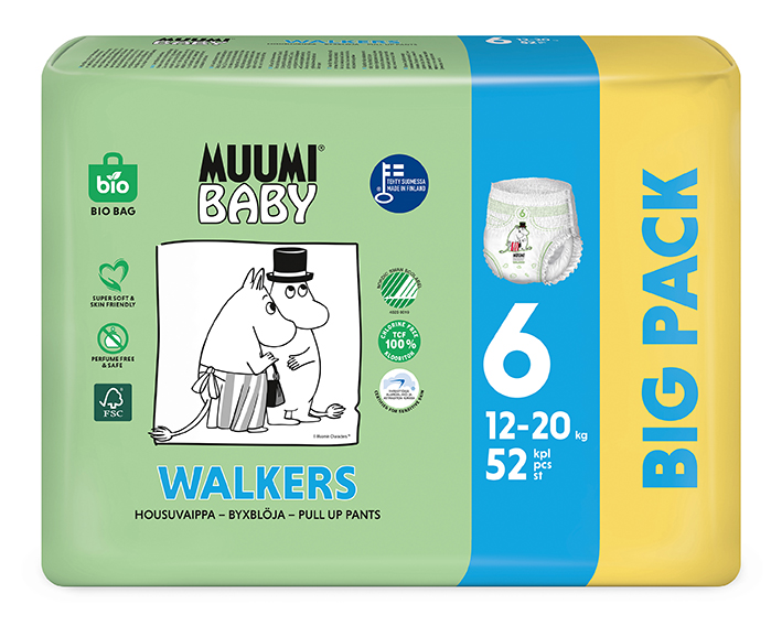 MUUMI Baby Walkers Big Pack vel. 6 52 ks 12-20 kg