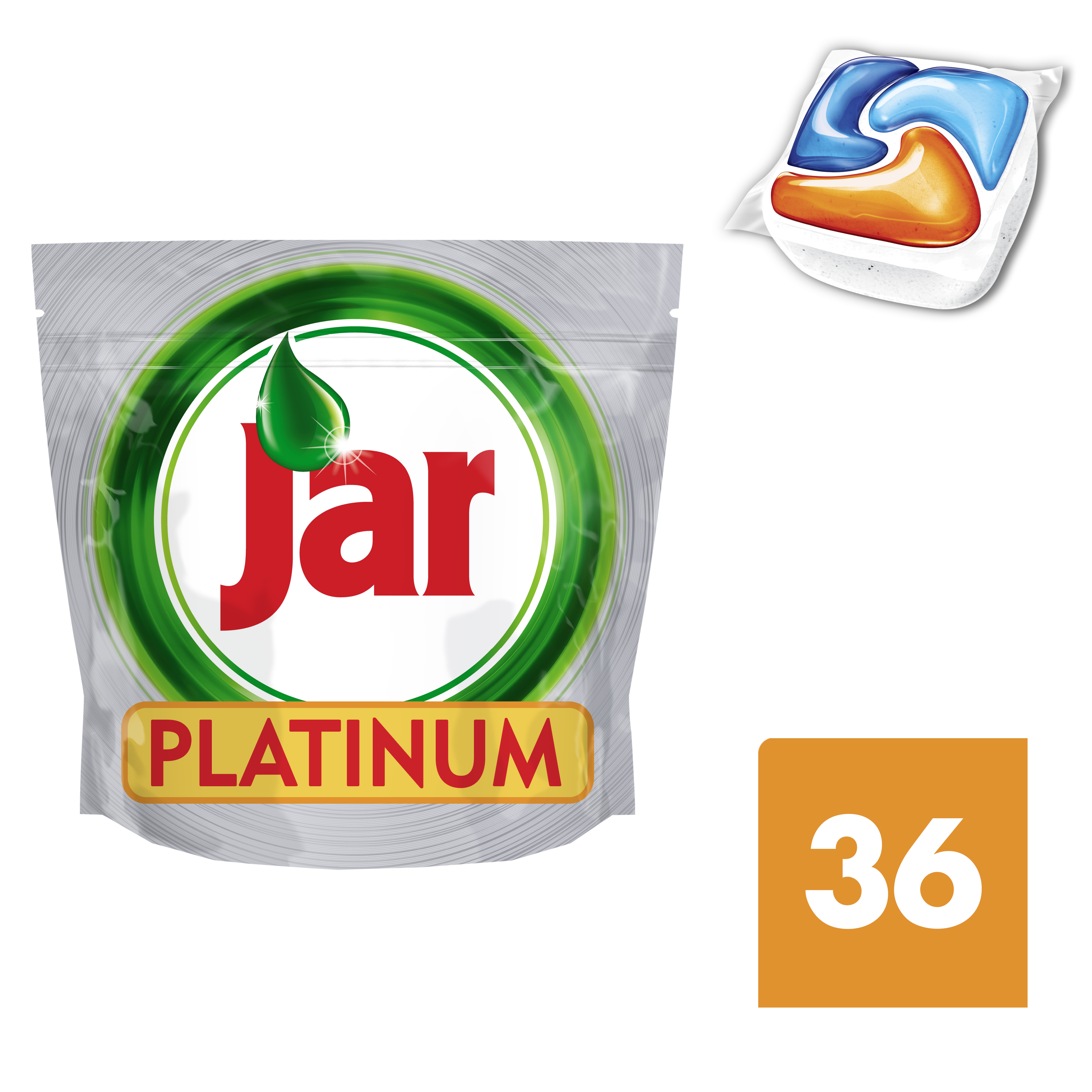 JAR Platinum Orange 36ks - kapsle do myčky