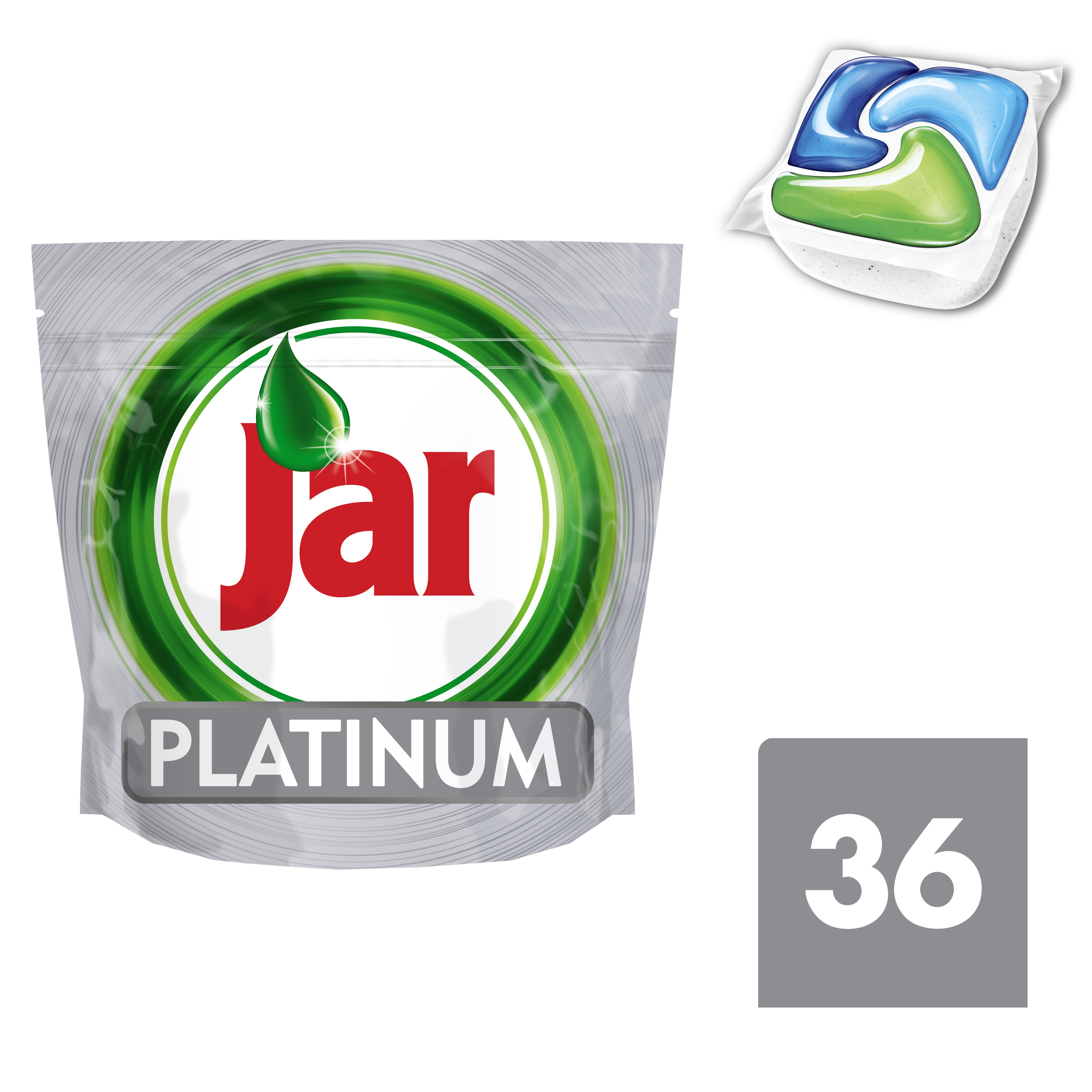 JAR Platinum Green 36 ks - kapsle do myčky