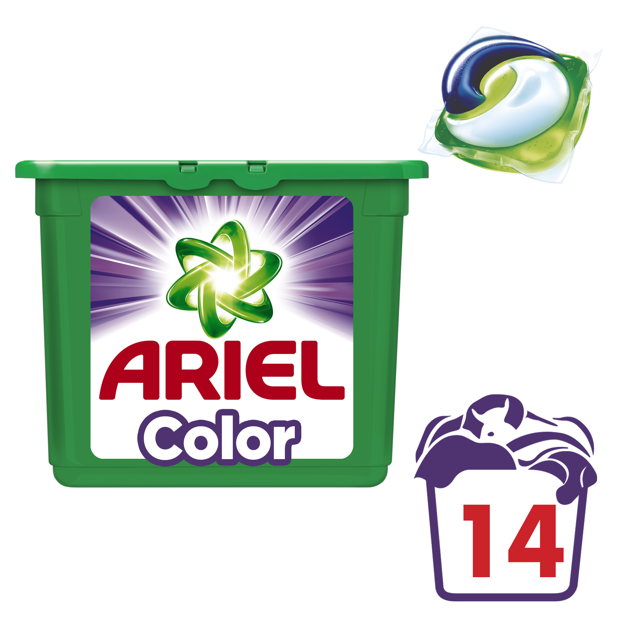 ARIEL Color All in 1 (14 ks) – gélové pracie kapsuly