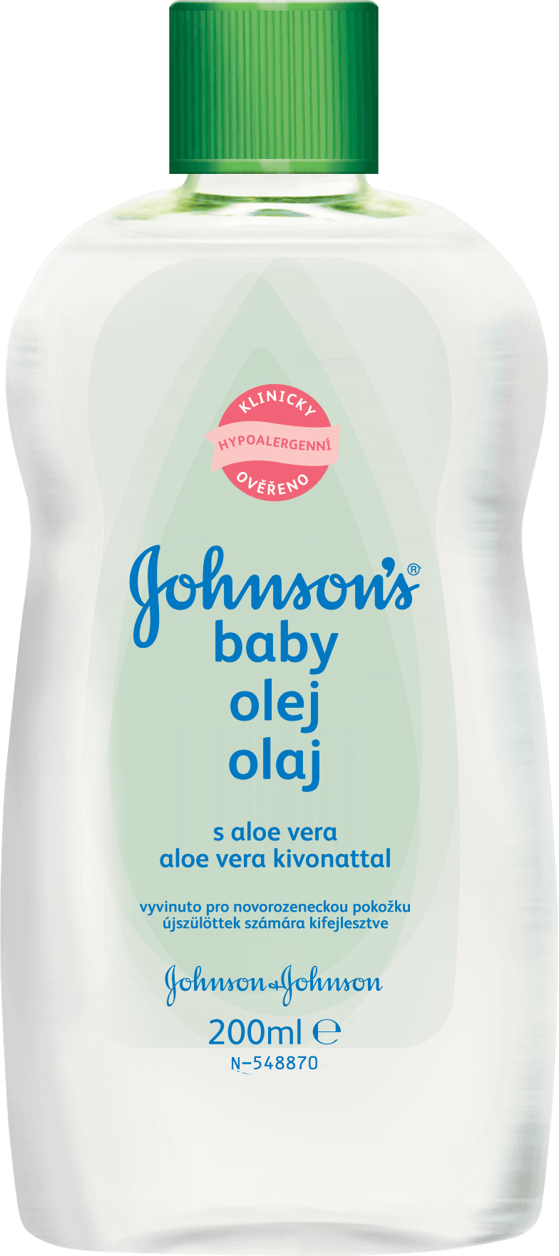 JOHNSONS BABY Olej s aloe vera (200 ml)