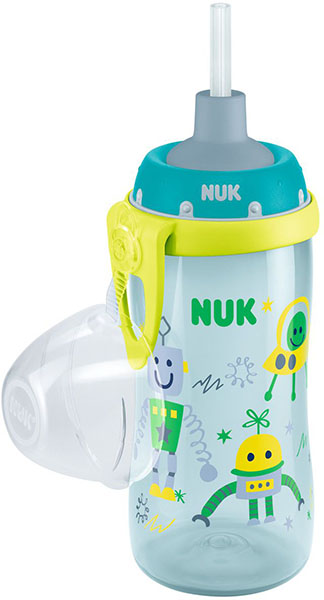NUK First Choice Fľaša PP Flexi Cup 300 ml, flexi náustok (24+ m) – chlapec
