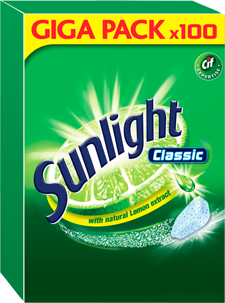 SUNLIGHT Classic Regular 100 ks – tablety do myčky