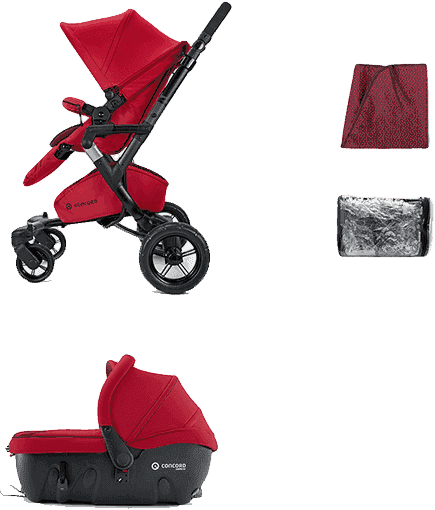 CONCORD Travel Set Neo Air + Sleeper 2016 - Tomato red