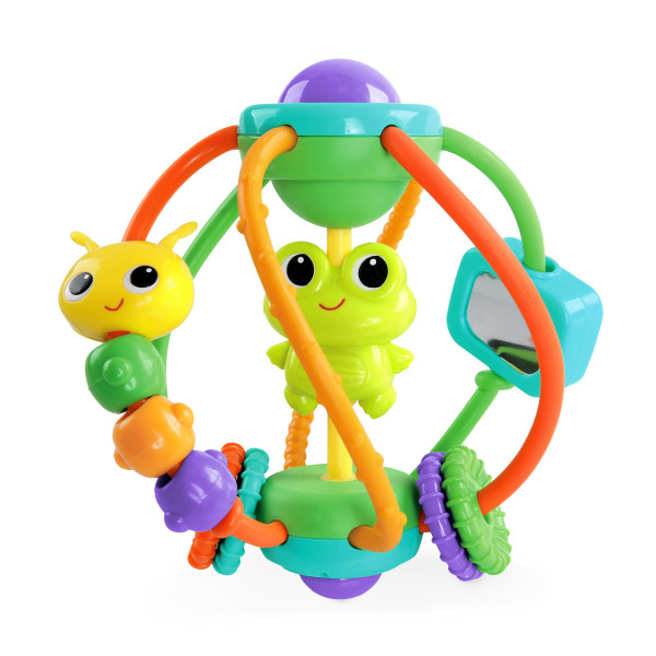 BRIGHT STARTS Hračka Clack & Slide Activity Ball™ (6m+)