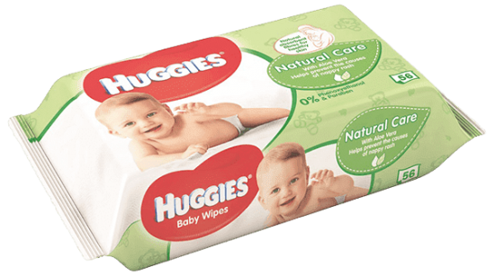 HUGGIES® Single Natural Care 56 ks - vlhčené obrúsky