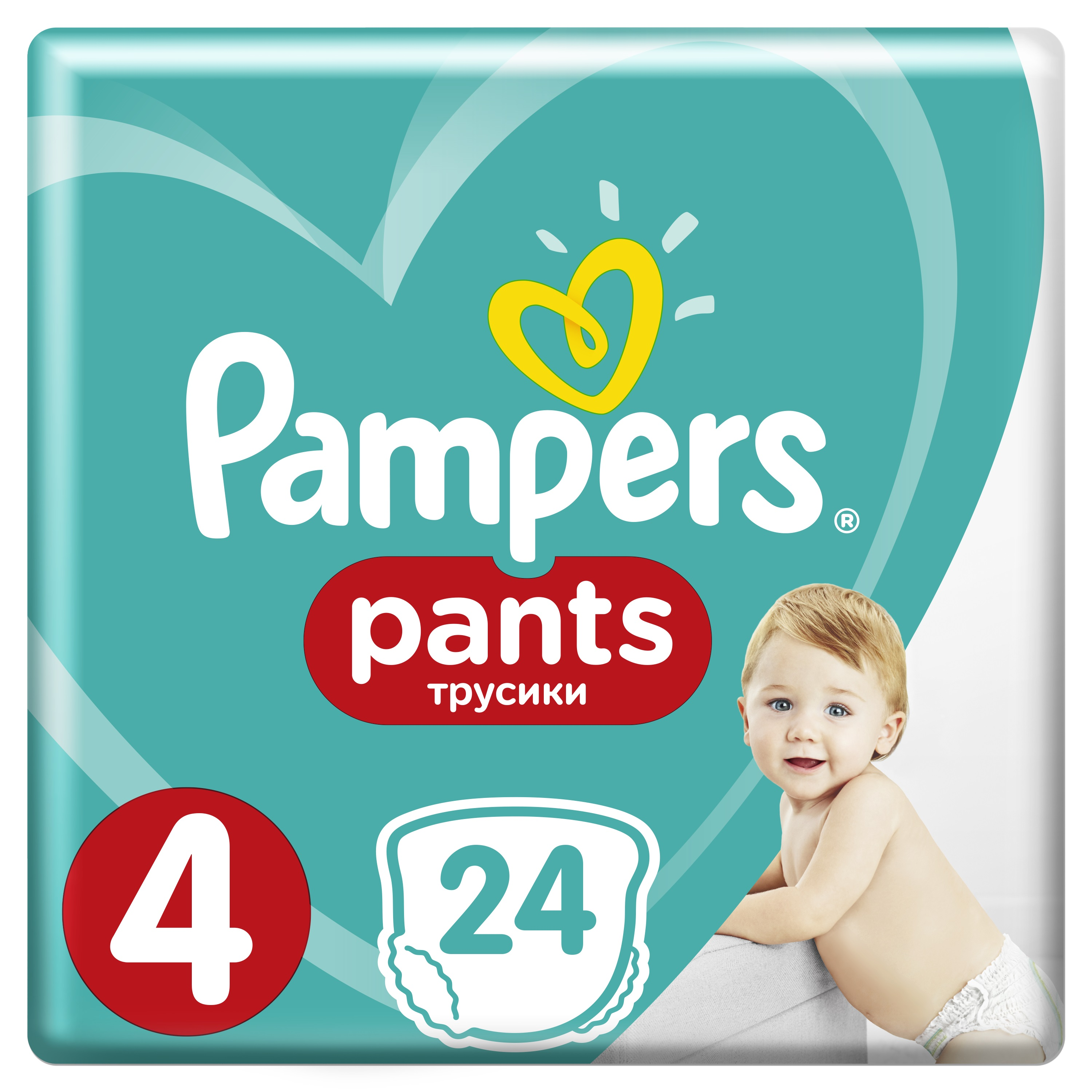 PAMPERS Pants 4 24ks (8-14 kg) CARRY Pack - plenkové kalhotky