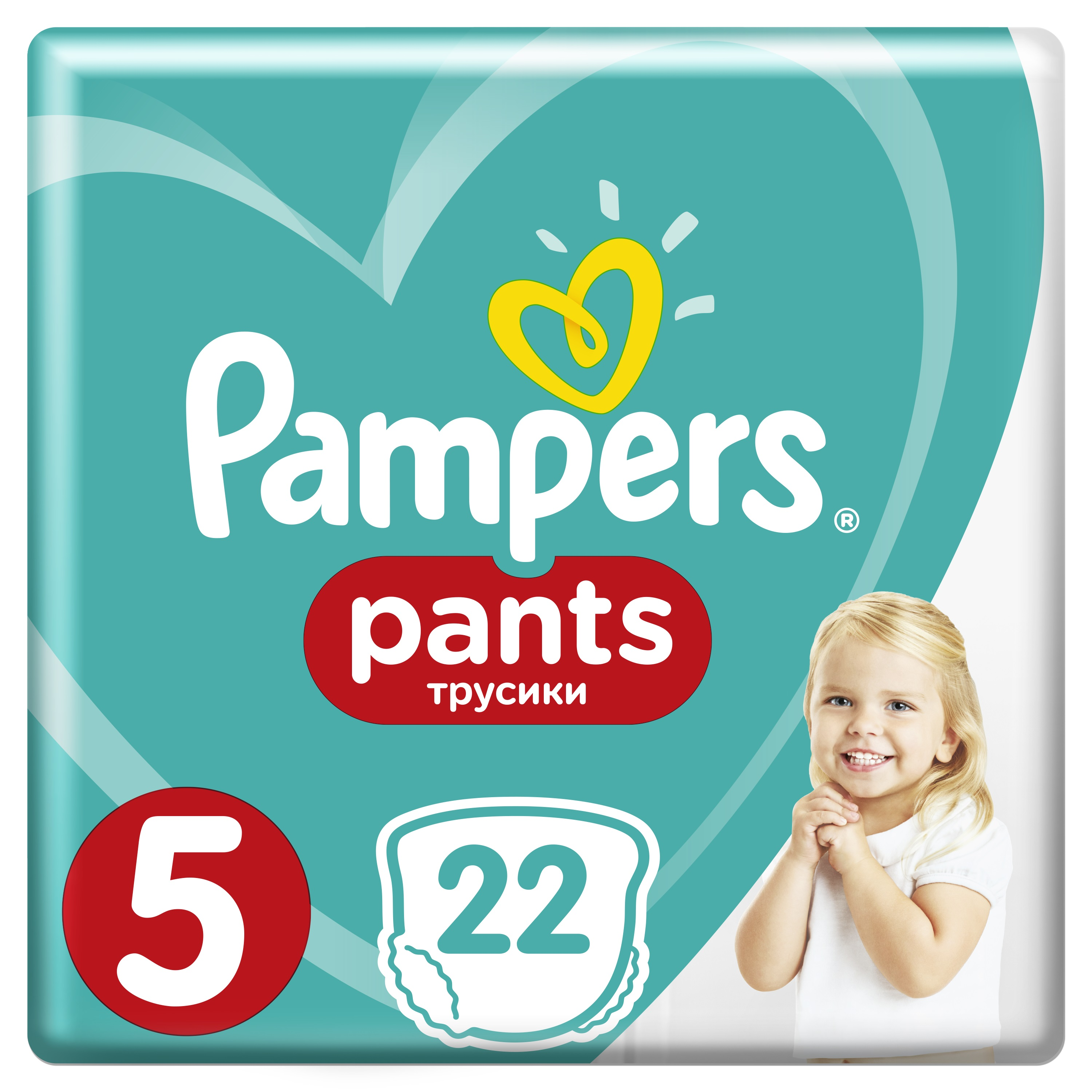 PAMPERS Pants 5 22 ks (11-18 kg) CARRY Pack - plenkové kalhotky