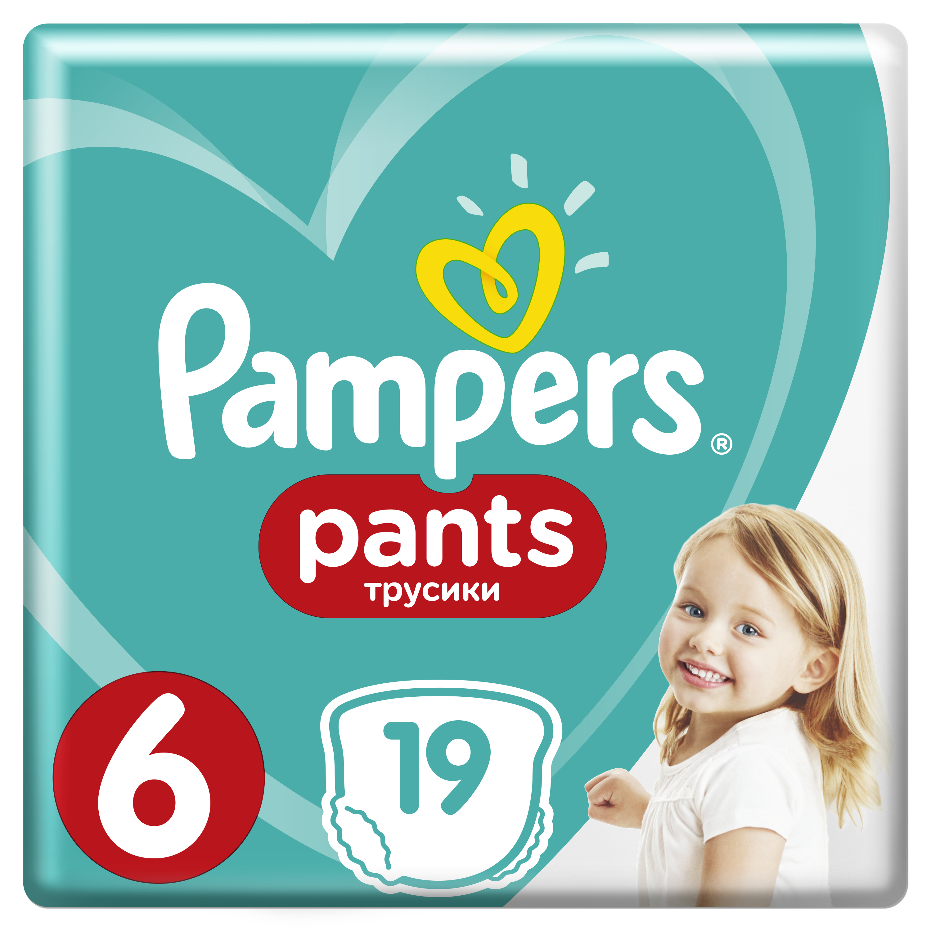 PAMPERS Pants 6 19 ks (15 kg) CARRY Pack - plenkové kalhotky
