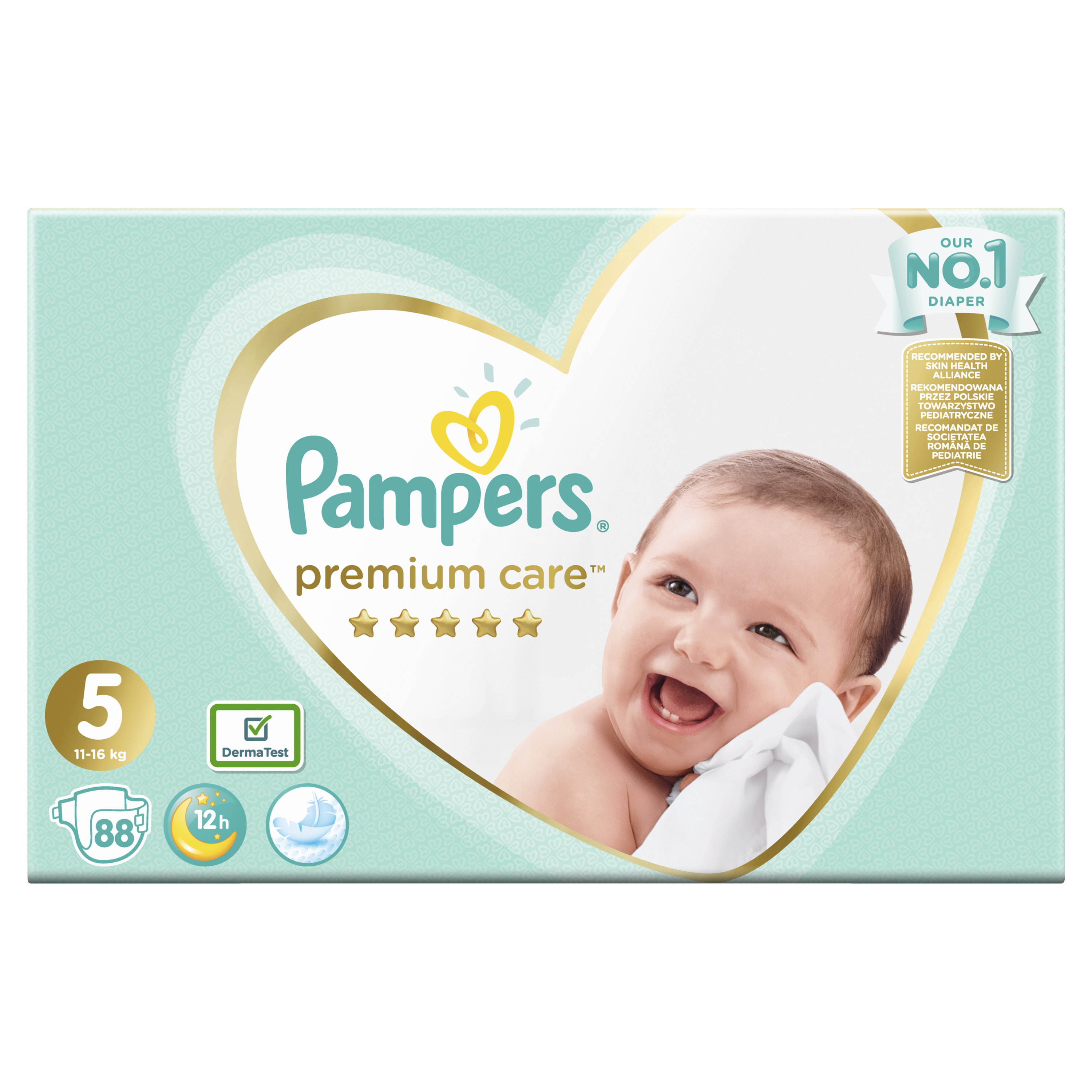 PAMPERS Premium Care 5 Junior 88ks (11-16 kg) MEGA BOX - jednorázové pleny