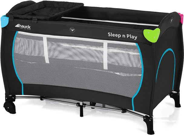HAUCK Cestovná postieľka Sleep N Play Center Multicolor black 2018