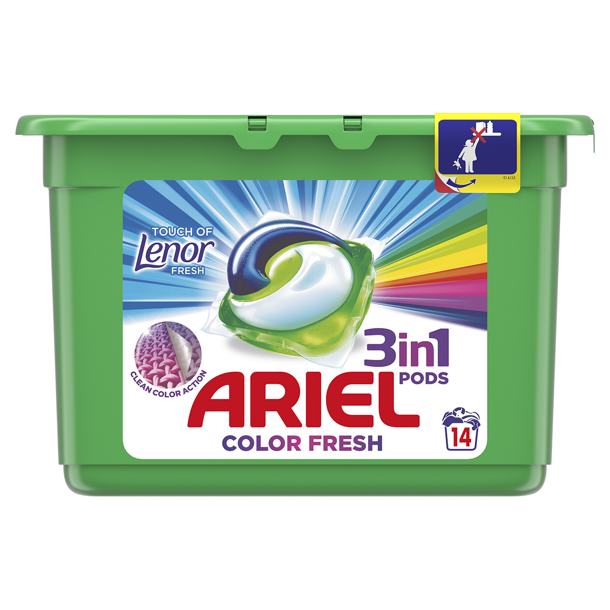 ARIEL Touch of Lenor Fresh All in 1 (14 ks) – gélové pracie kapsuly