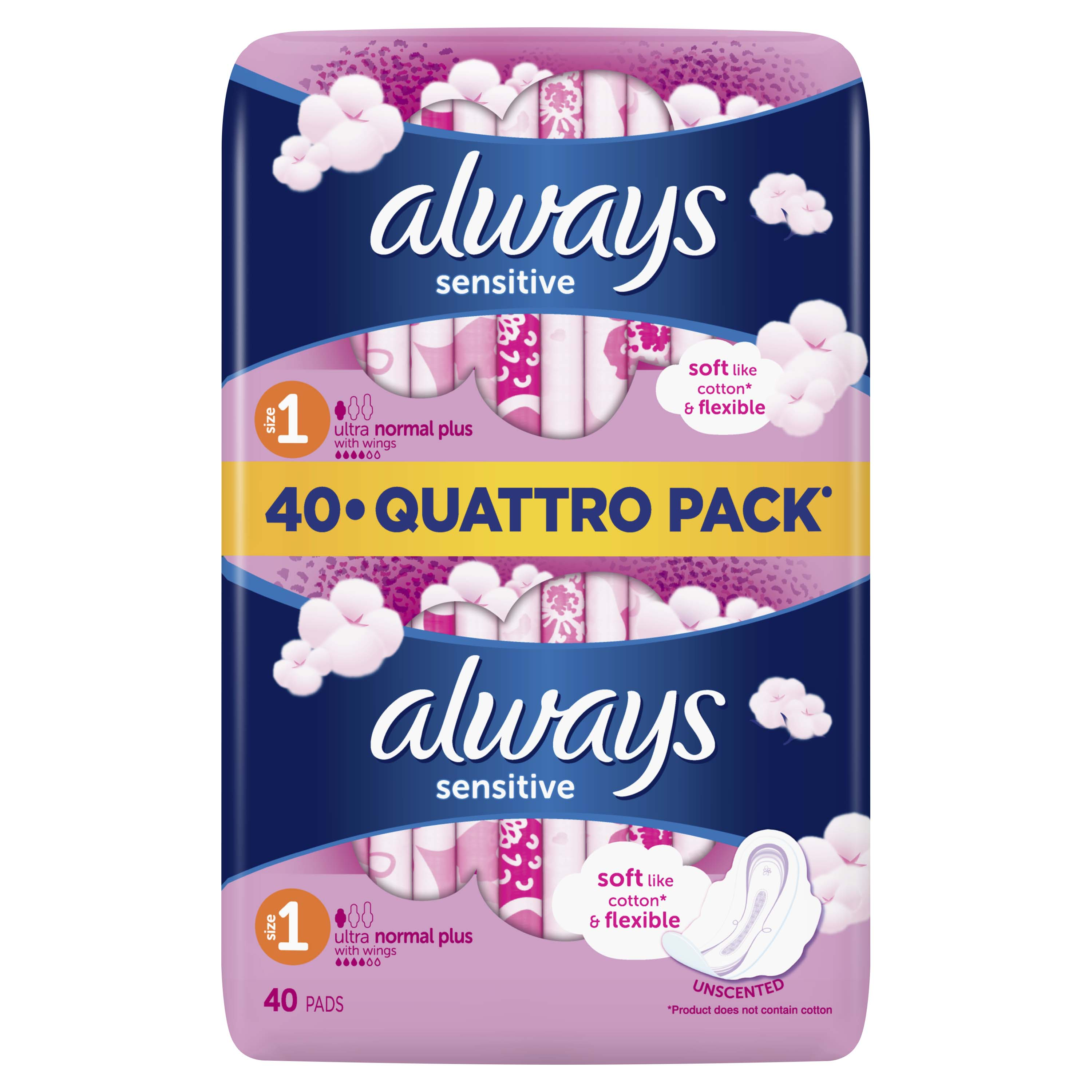 ALWAYS Ultra Sensitive Normal Quatro 40 ks – vložky