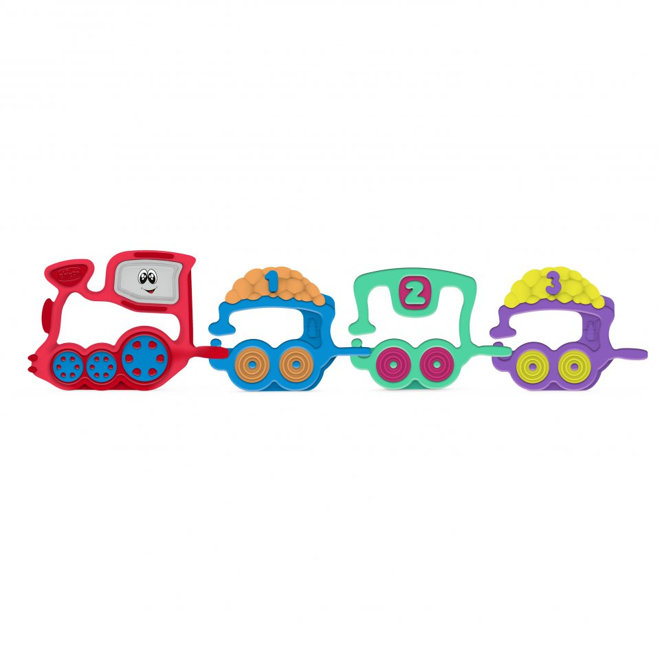 CHICCO Rattle Train 123