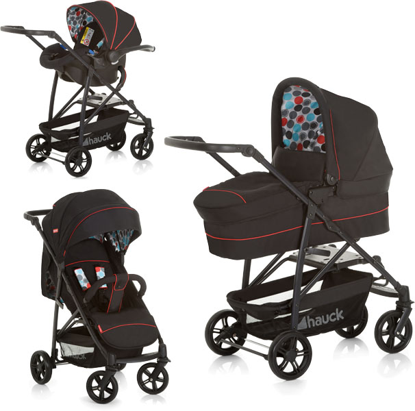 HAUCK Fisher Price Toronto 4 Trio Set Multifunkční kočárek - Gumball black