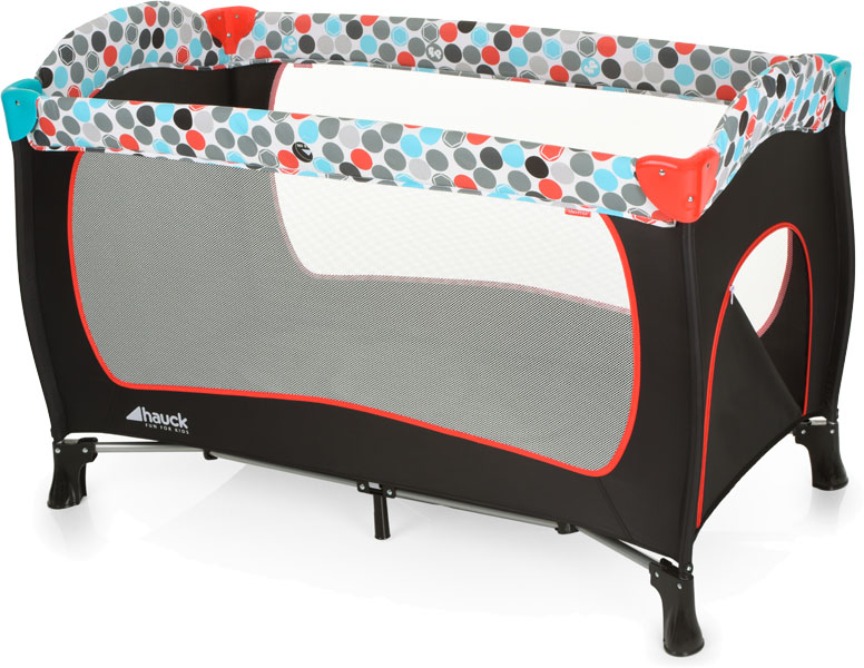 HAUCK Fisher Price Cestovná postieľka Sleepn Play Plus - Gumball black