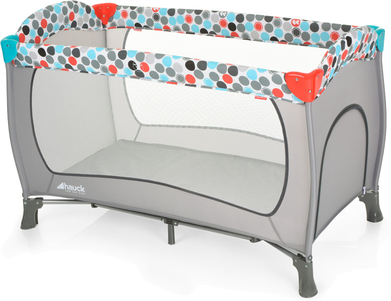 HAUCK Fisher Price Cestovní postýlka Sleepn Play Plus - Gumball grey