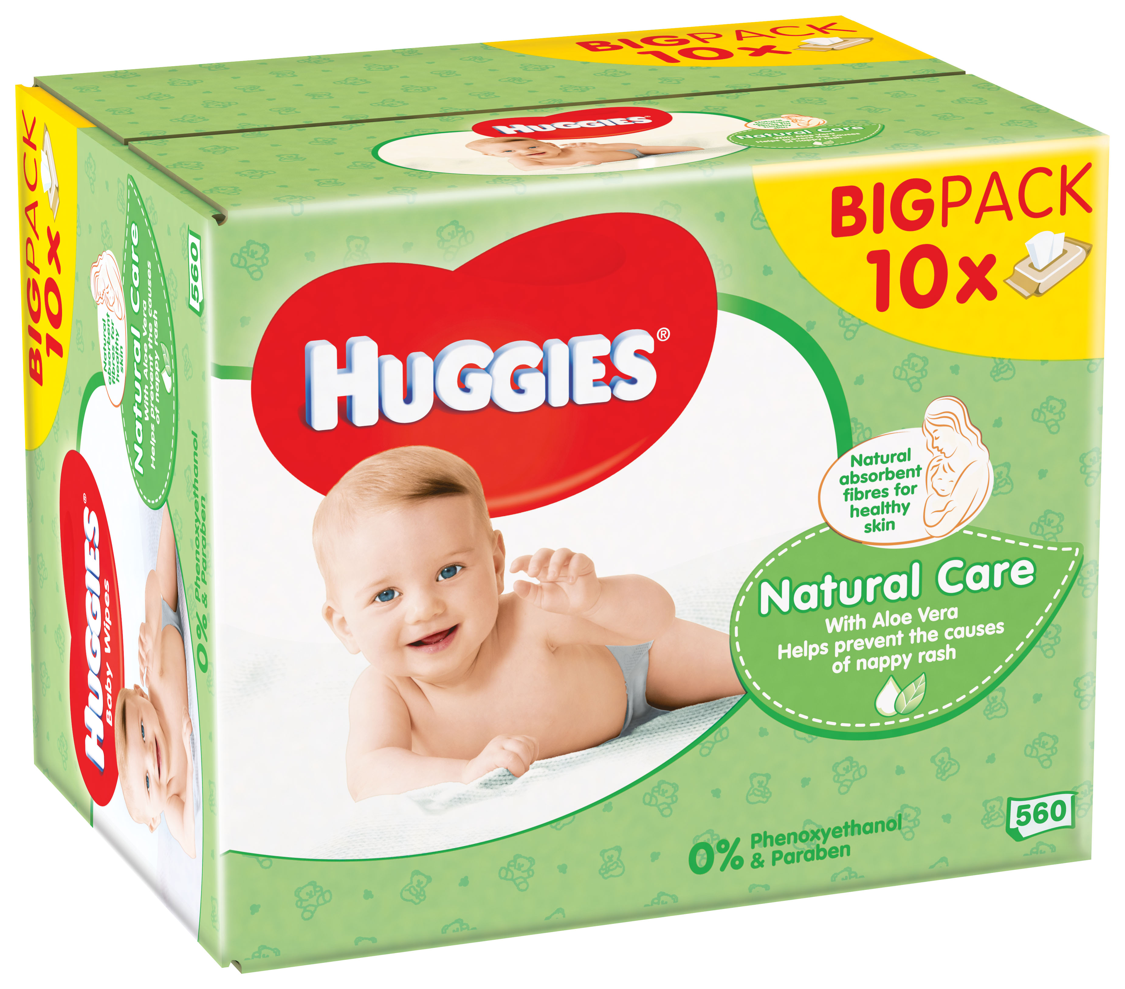 10x HUGGIES® Single Natural Care 56 ks - vlhčené obrúsky