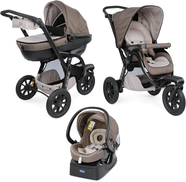 CHICCO Kočárek trojkombinace Trio Activ3 - Dove Grey