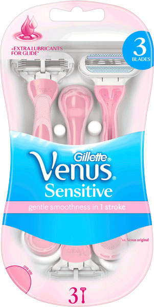 GILLETTE Dámská Pohotová Holítka Venus Sensitive disposable razor 3
