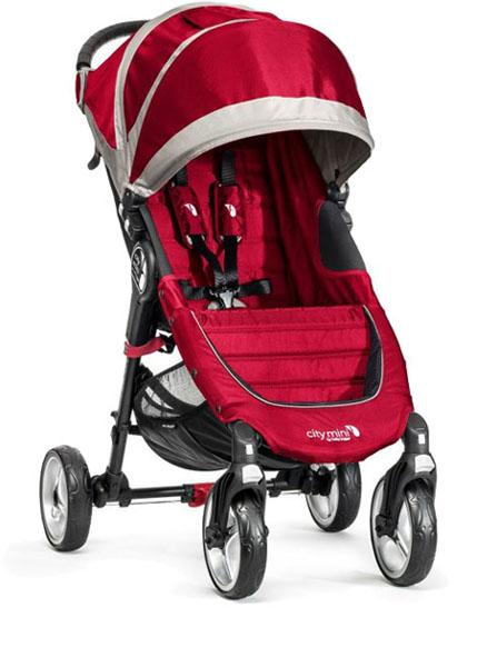 BABY JOGGER Kočík City Mini 4 Crimson/Grey