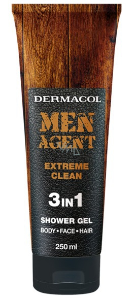 DERMACOL Men Agent Extreme clean - sprchový gel (tuba) 250 ml