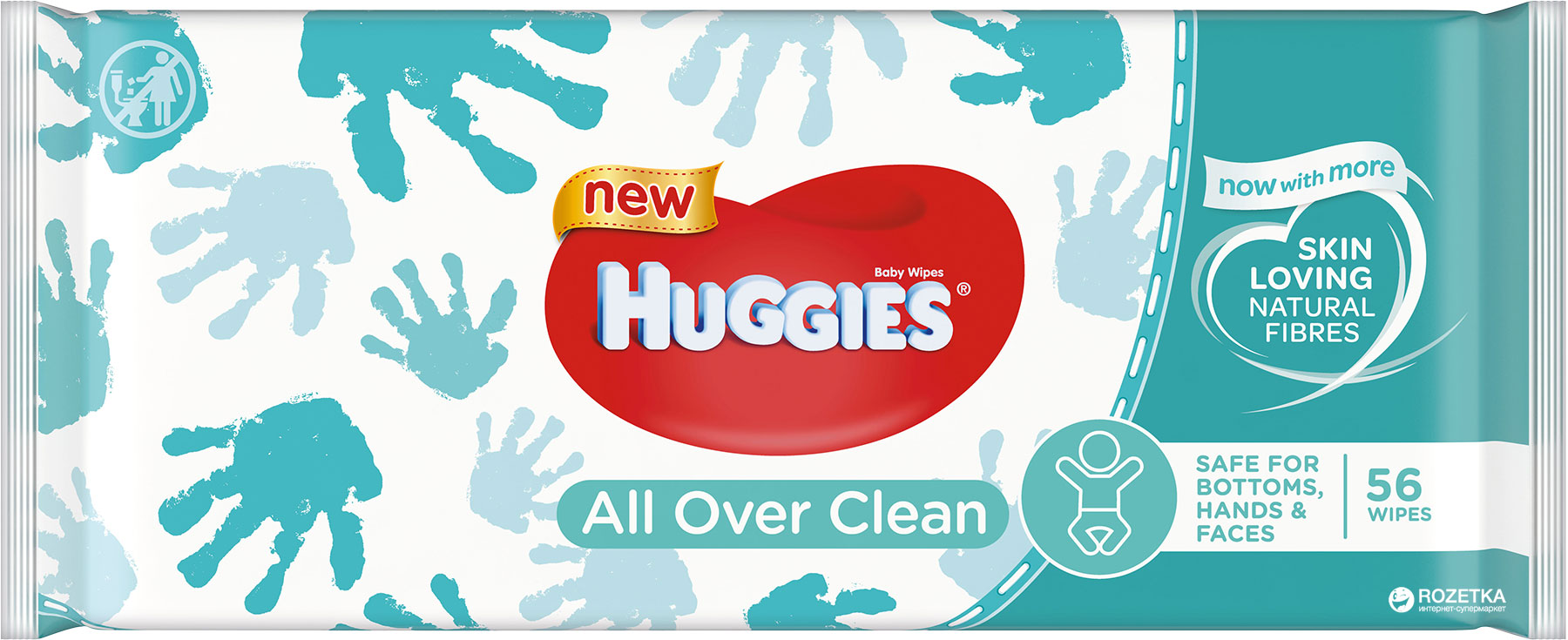 HUGGIES® Single All Over Clean 56 ks - vlhčené obrúsky