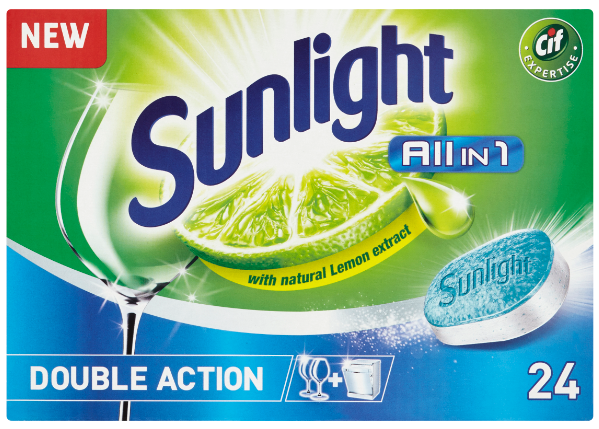 SUNLIGHT All in One Regular 24 ks – tablety do myčky