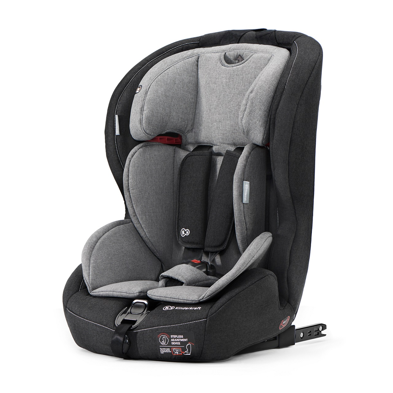 KINDERKRAFT Safety-Fix (9-36 kg) Isofix Autosedačka – Black/Grey