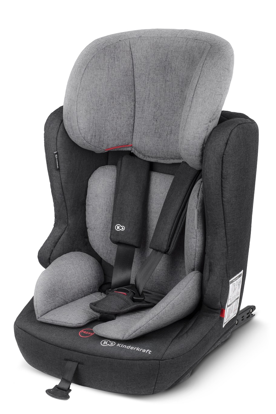 KINDERKRAFT Fix2Go (9-36 kg) Isofix Autosedačka – BlackGrey