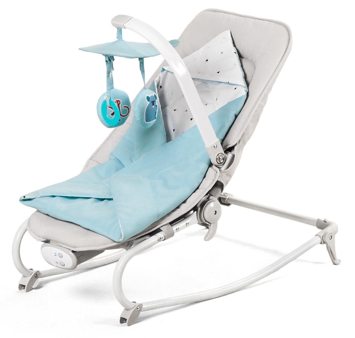 KINDERKRAFT Houpátko vibrující s melodií Felio Light Blue 0 m do 18 kg 2020