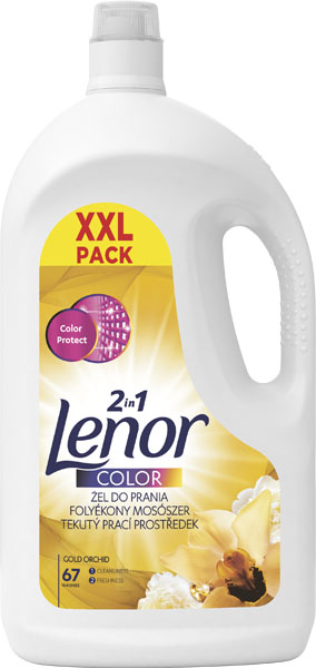 LENOR Gold Orchid Color 3685 l (67 dávek) – prací gel