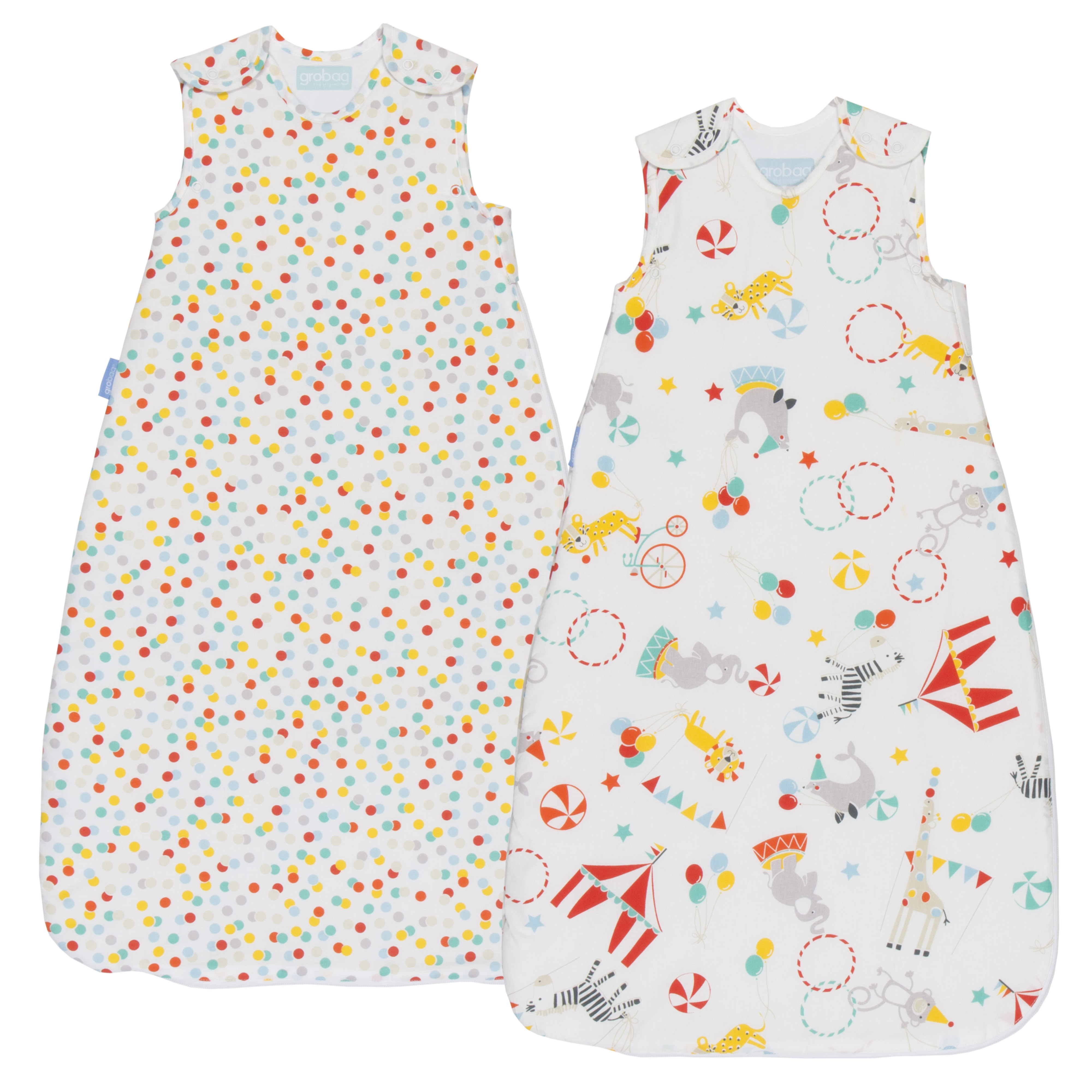 GRO Vak spací Roll Up Wash & Wear Twin Pack 2.5 Tog 0-6m GRObag