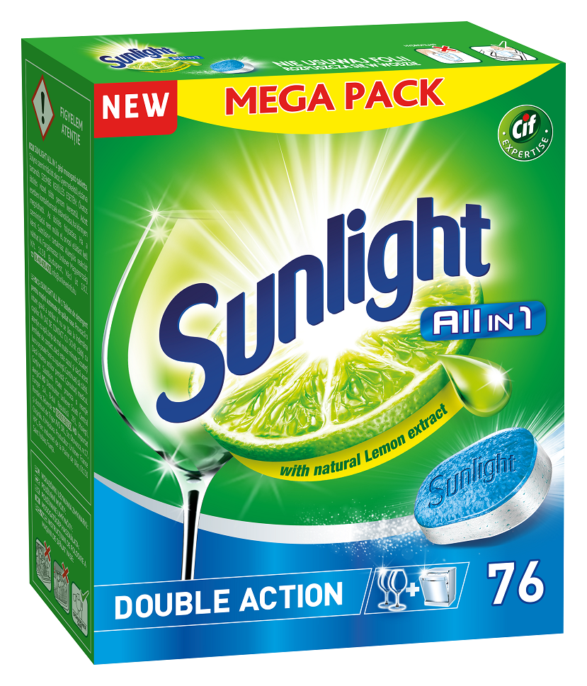 SUNLIGHT All in One Regular 76 ks – tablety do myčky