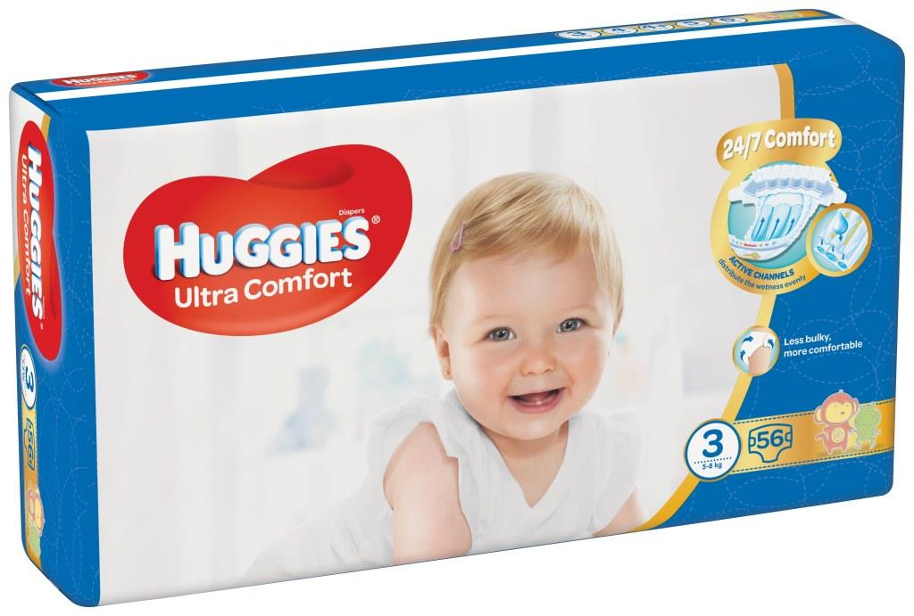 HUGGIES® Ultra Comfort Jumbo 3 (5-8 kg) 56 ks