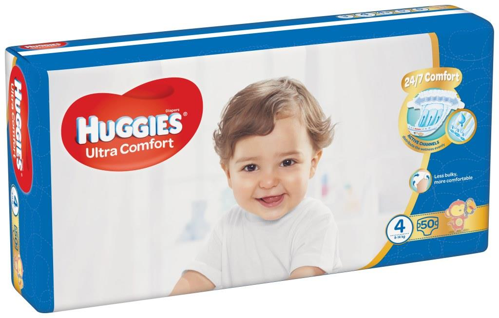 HUGGIES® Ultra Comfort Jumbo- 4 (8-14 kg) 50 ks