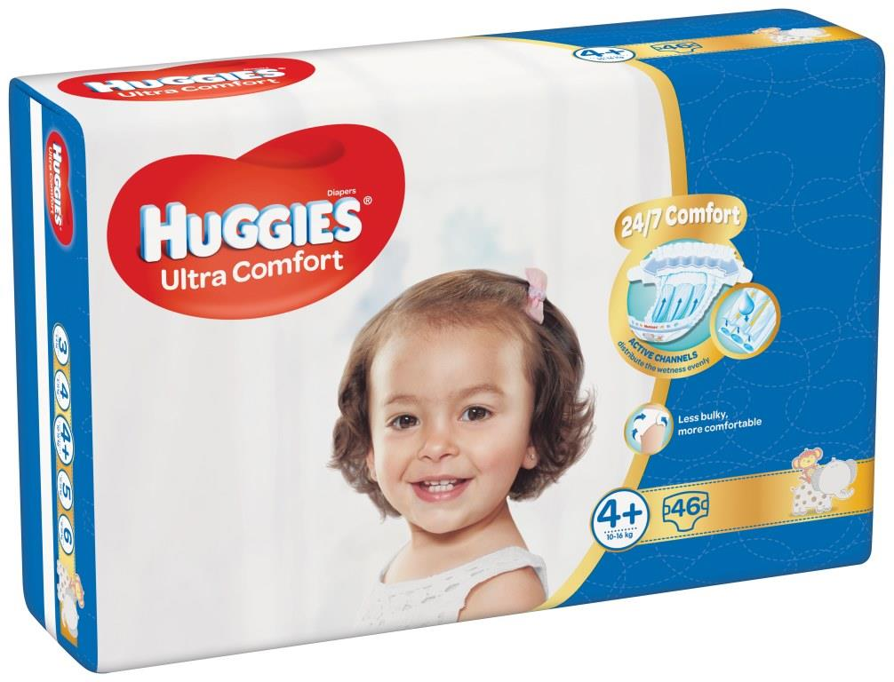 HUGGIES® Ultra Comfort Jumbo 4 (10-16 kg) 46 ks